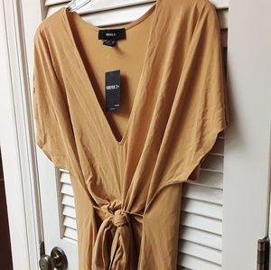 Mustard Yellow VNeck Sexy Bodycon Dress Plus NWT